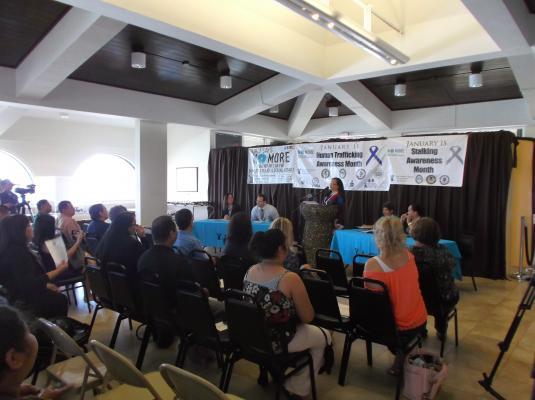2015 Stalking and Human Trafficking Awareness Month Activities