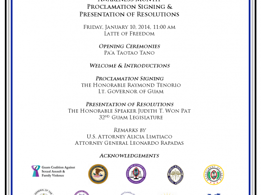 Human Trafficking & Stalking Proclamation & Presentation of Resolutions