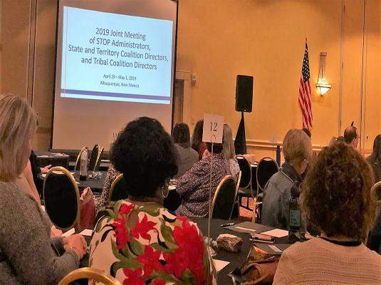 Joint Meeting for STOP Administrators and Coalition Executive Directors – April 31, 2019