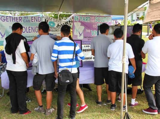 UOG Charter Day- GCASAFV NO MORE Campaign Outreach